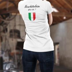 Donna T-shirt stretto - Neuchâteloise, What else ?