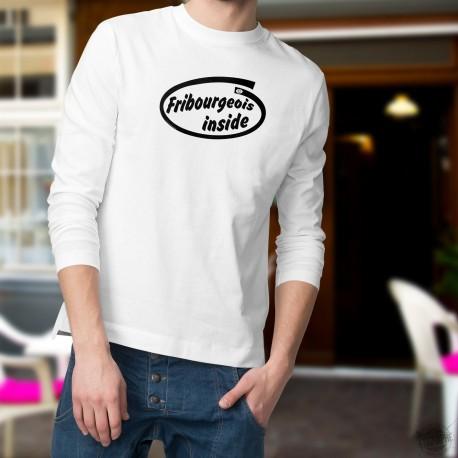 Men's Funny Sweatshirt -  Fribourgeois inside