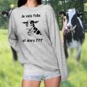Je suis folle, et alors ??? ★ Vache Holstein ★ Pullover femme