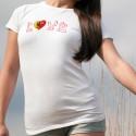 Donna slim T-shirt - LOVE Ginevra