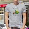 ★ Mon père ne boit pas, ma mère non plus, je suis autodidacte ★ Chope de bière et Alien Smiley ★ T-shirt homme
