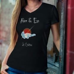 La Création ★ Adam & Eve® ★ Donna cotone T-Shirt