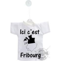 Mini T-Shirt - Ici c'est Fribourg, for car, bottle or windows