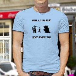 Que la Bleue soit avec Toi ★ Yoda Star Wars ★ T-shirt humoristique homme en l'honneur de la Fée Verte (Absinthe, La Bleue)