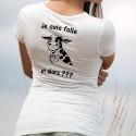 Je suis folle, et alors ??? ✿ vache folle ✿ T-Shirt dame