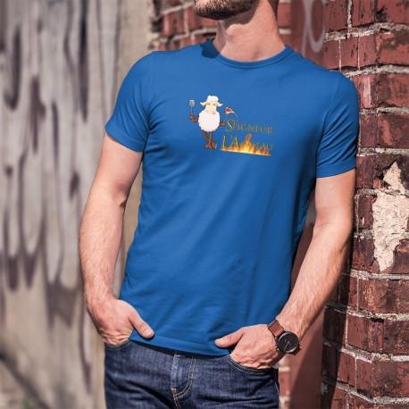 """Le Seigneur de L'Agneau ★ T-Shirt coton homme inspiré du Film """" le Seigneur des Anneaux"""" version grillades, Kebab, BBQ"""