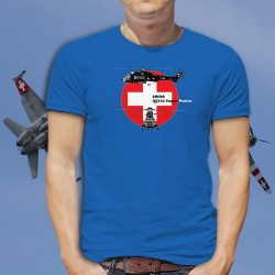 Aérospatiale AS332 Super Puma ★ Forces aériennes suisses ★ T-Shirt coton homme Blueprint