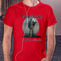 PESTICIDE ✪ POISON de l'humanité ✪ T-Shirt coton homme avec le squelette de la Mort versant des produits chimiques