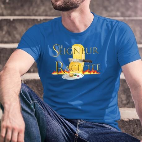 """Le Seigneur de la Raclette ★ T-Shirt coton homme inspiré du Film """" le Seigneur des Anneaux"""", meule de fromage, patate, cornichon"""