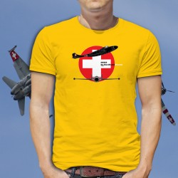 de Havilland Venom ★ Swiss Air Force ★ Men's cotton T-Shirt
