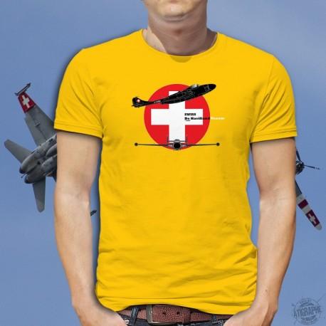 de Havilland Venom ★ Schweizer Luftwaffe ★ Herren Mode Baumwolle T-Shirt