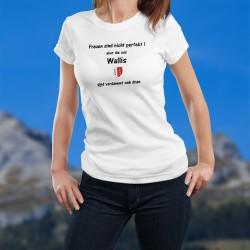 Perfekt Walliser Frau ★ écusson Valaisan ★ T-Shirt mode dame