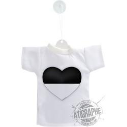 Mini T-Shirt - Coeur fribourgeois, pour voiture, bouteille ou fenêtre