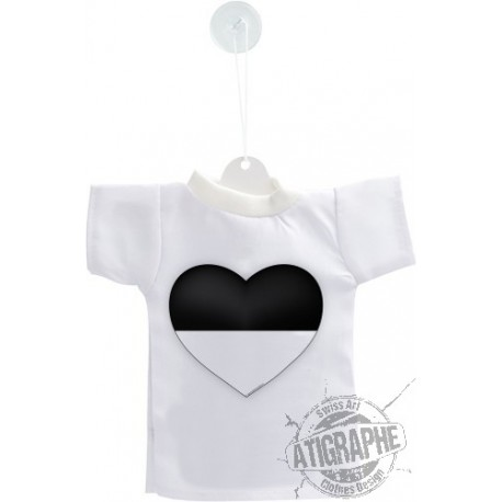 Mini T-Shirt - Fribourg Heart , for car, bottle or windows