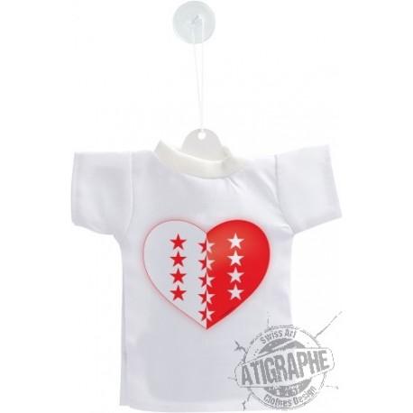 Mini T-Shirt - Coeur valaisan, pour voiture