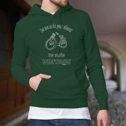 Vintage cyclomoteur Solex ★ Je ne suis pas vieux, je suis vintage ★ Pull à capuche coton homme