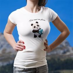 C'est aussi ma planète ★ bébé Panda tenant la Terre entre ses pattes ★ T-Shirt mode dame contre le réchauffement climatique