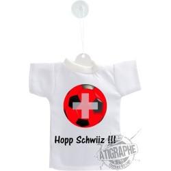 Mini football T-Shirt - Hopp Schwiiz - pour voiture