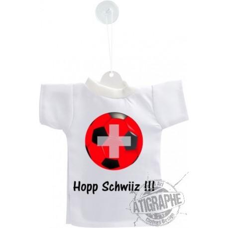 Mini Fussball T-Shirt - Hopp Schwiiz - Auto Dekoration