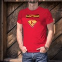 Racletteman ★ Supereroe Comics ★ Uomo Moda cotone T-Shirt