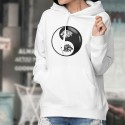 Tribal Lion Head ☯ Yin-Yang ☯ Lady's Hoodie