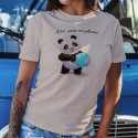 C'est aussi ma planète ❤ bébé Panda ❤ T-Shirt décontracté dame