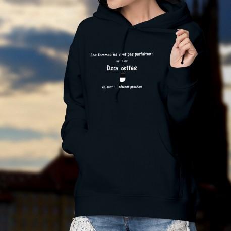 Cotton Hoodie T-Shirt - Dzodzette, La femme presque parfaite