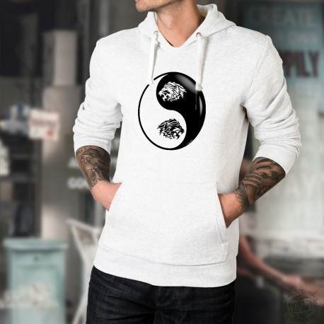 Tribal Lion Head ☯ Yin-Yang ☯ Men's Hoodie