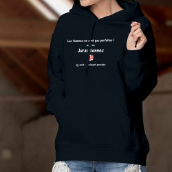Maglione di cotone con cappuccio - Jurassienne, femme parfaite