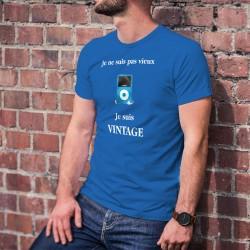 Vintage iPod ★ Je ne suis pas vieux, je suis vintage ★ T-Shirt coton homme lecteur mp3