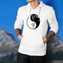 Tête de Loup Tribal ☯ Yin-Yang ☯ Pull à capuche homme