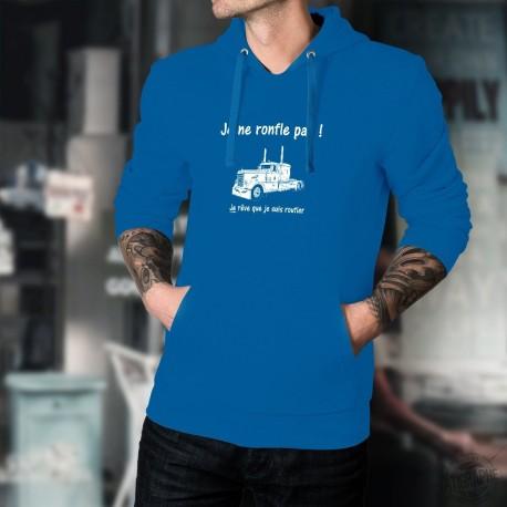 Je ne ronfle pas ! Je rêve que je suis routier ★ Peterbilt Truck ★ Pull à capuche en coton homme routier, chauffeur poids lourd