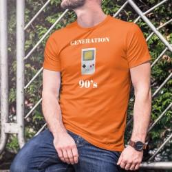 Generazione Novanta ★ portatile Game Boy ★ Uomo Moda cotone T-Shirt