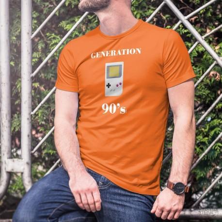 Génération quatre-vingt-dix ★ Console Game boy ★ T-Shirt coton homme avec la célèbre console de jeux vidéo portable