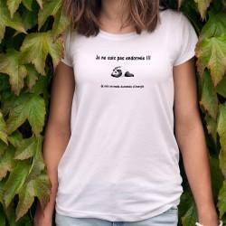 Damenmode T-shirt - Je ne suis pas endormie