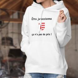 Kapuzen-Sweatshirt ★ Être Jurassienne ✿ ça n'a pas de prix ✿