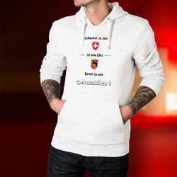 Schweizer zu sein ist eine Ehre ★ Berner zu sein ★ unbezhalbar! ★ Herren Kapuzenpulli Schweizer und Berner Wappen