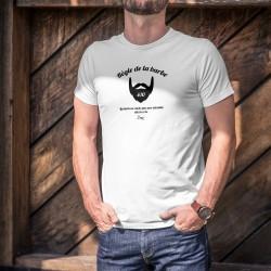 Uomo T-Shirt umoristica - Règle de la barbe N°10