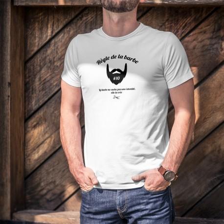 Humoristisch T-Shirt - Règle de la barbe N°10