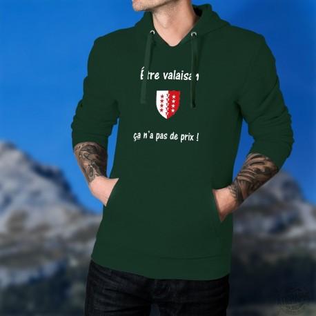 Maglione di cotone con cappuccio - Etre valaisan ★ ça n'a pas de prix !