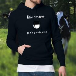 Etre dzodzet ★ ça n'a pas de prix ! ★ Pull à capuche coton homme - écusson fribourgeois et inspirée de la publicité Mastercard