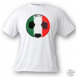 Women's or Men's Soccer T-Shirt - Italian ball, White
