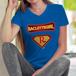 Raclettegirl ✻ comics super héros ✻ T-Shirt coton dame Raclette