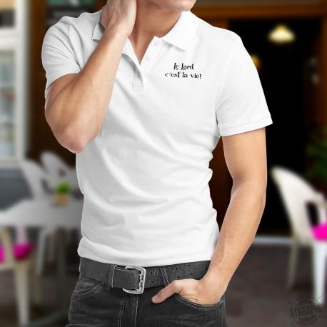 Le Lard, c'est la vie ★ Corpore sano ★ Polo shirt humoristique homme inspiré de la série TV humoristique Kaamelott