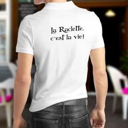 La Raclette, c'est la vie ★ Corpore sano ★ Polo humoristique homme inspiré d'une réplique de Karadoc dans la série TV Kaamelott