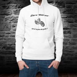 Kapuzen-Sweatshirt ★ Etre Biker ★ ça n'a pas de prix ! ★