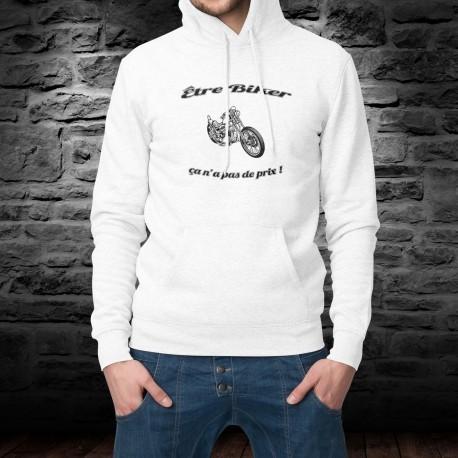 Etre Biker ★ ça n'a pas de prix ! ★ Pull à capuche mode homme - moto chopper inspirée de la publicité Mastercard
