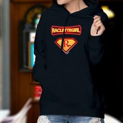 Raclettegirl ✻ Supereroe Comics ✻ Donna Maglione di cotone con cappuccio - formaggio raclette