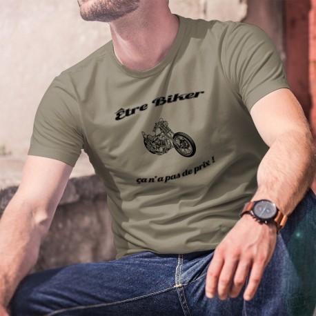 Etre Biker ★ ça n'a pas de prix ! ★ T-shirt humoristique motard homme moto chopper et inspiré de la pub Mastercard
