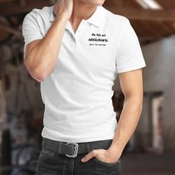 Ma fille est adoléchiante, mais je l'aime quand même ★ Polo shirt humoristique homme papa d'adolescente